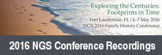 NGS 2016 Family History Conference